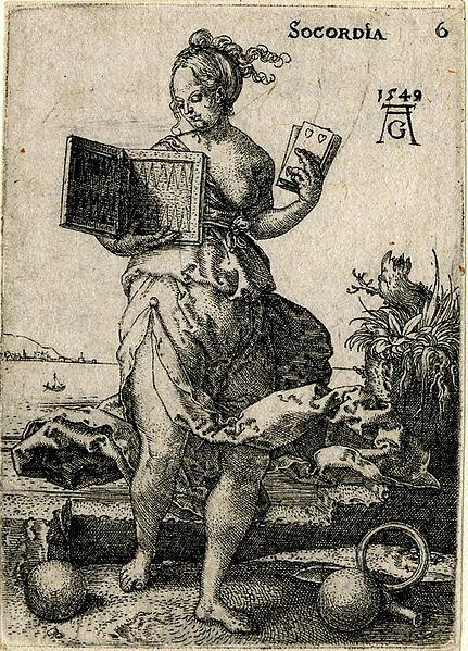 Aldegrever,_Heinrich_—_Socordia_—_1549