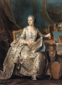 DE LA TOUR, Maurice-Quentin, Markiezin de Pompadour, ca. 1755, ASH